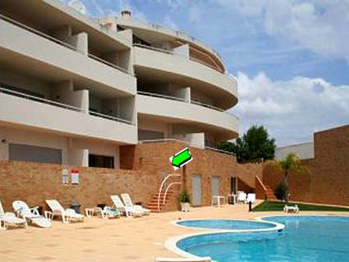 Apartment QRD in Lagos, Algarve - Komplex with stairs to the pool