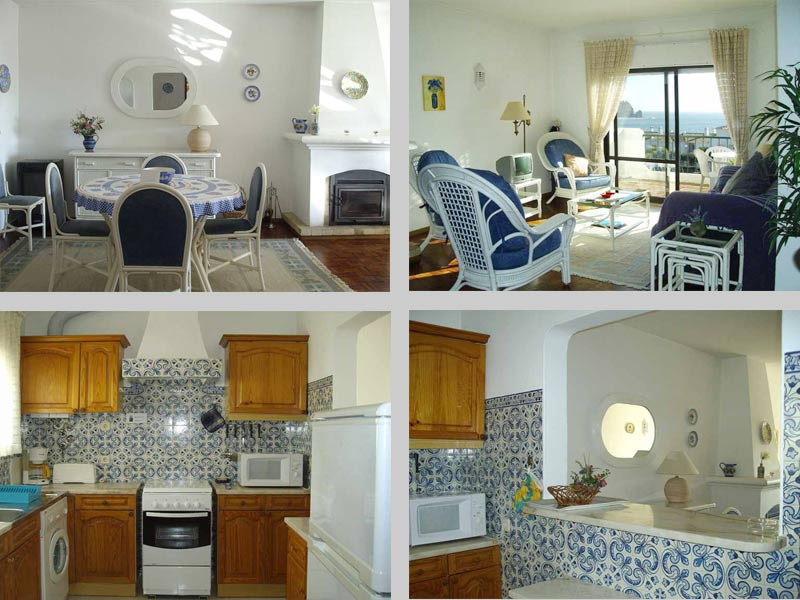 Casa CLD, Townhouse Apartment in Praia da Luz, Algarve, Portugal - Composition Living Room and Kitchen